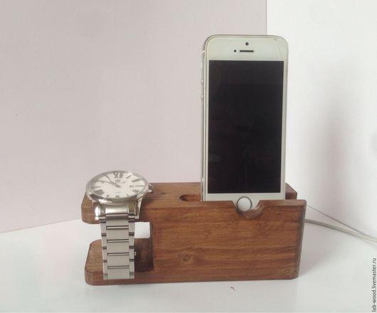 Для телефонов ручной работы. Ярмарка Мастеров - ручная работа. Купить Подставка для телефона и часов. Dock Station. Handmade. handmade