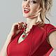 Платья ручной работы. Платье Fiore red. Strygina (Strygina). Ярмарка Мастеров. Офисное платье, стрыгина, пошив платья, жумагул