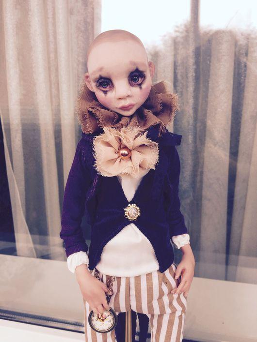 Коллекционные куклы ручной работы. Ярмарка Мастеров - ручная работа. Купить Пьеро продан. Handmade. Кукла в подарок, проволока, хлопок