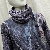 Одежда handmade. Livemaster - original item Felted sweater Purple haze. Handmade.