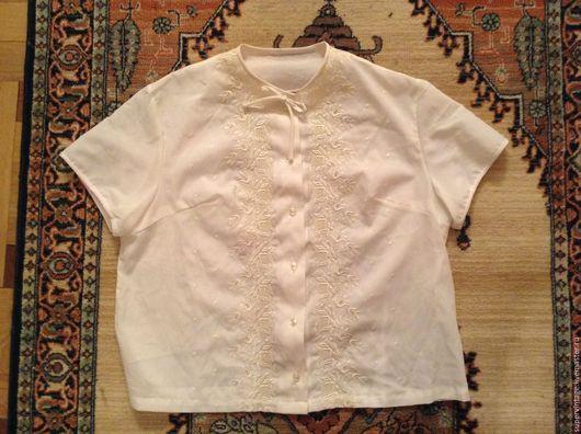 Одежда. Ярмарка Мастеров - ручная работа. Купить Германия легкая кофточка с вышивкой,винтаж. Handmade. Белый, немецкое качество, винтаж