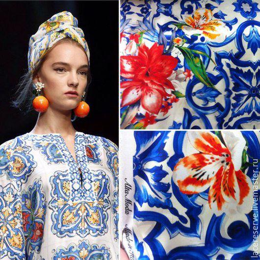 """Шитье ручной работы. Ярмарка Мастеров - ручная работа. Купить """"Майолика"""" Dolce Gabbana весна-лето 2016. Handmade."""