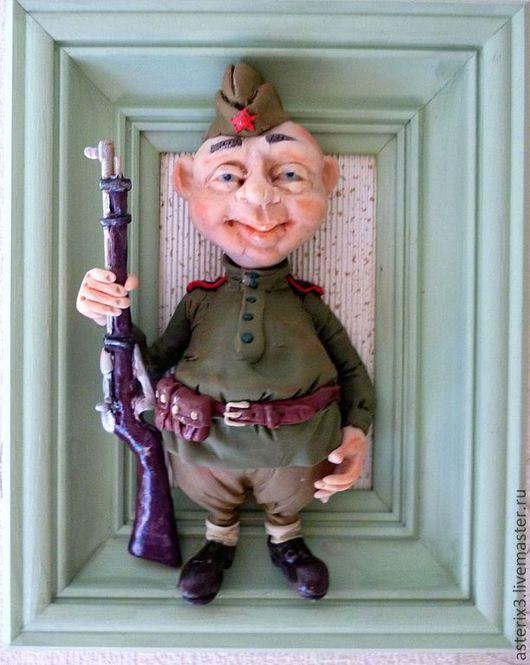 Коллекционные куклы ручной работы. Ярмарка Мастеров - ручная работа. Купить Солдат Чонкин.. Handmade. Зеленый, солдат, подарок мужчине