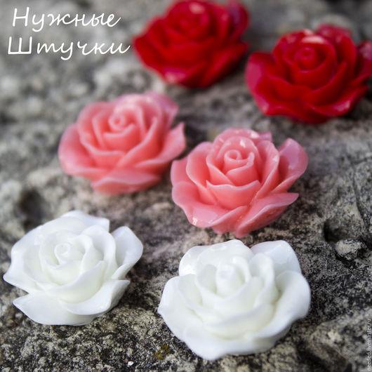 Для украшений ручной работы. Ярмарка Мастеров - ручная работа. Купить Крупная роза широкая 21-22 мм. Handmade.
