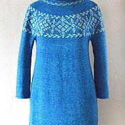 Одежда ручной работы. Ярмарка Мастеров - ручная работа Платье вязаное Новогоднее. Handmade.