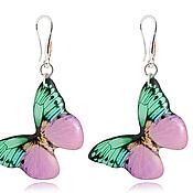 Украшения handmade. Livemaster - original item Purple earrings for every day for women,
