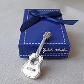 Pendants handmade. Livemaster - original item Silver pendant Guitar 925 sterling Silver. Handmade.