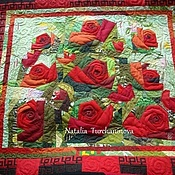 "Картины и панно handmade. Livemaster - original item Patchwork, interior painting. ""Oh, what thorn, my red rose"". Handmade."