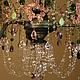 Освещение ручной работы. винтажная люстра из цветного стекла Дождь в летнем саду. Mantipa 123. Ярмарка Мастеров. Бисер, спальня