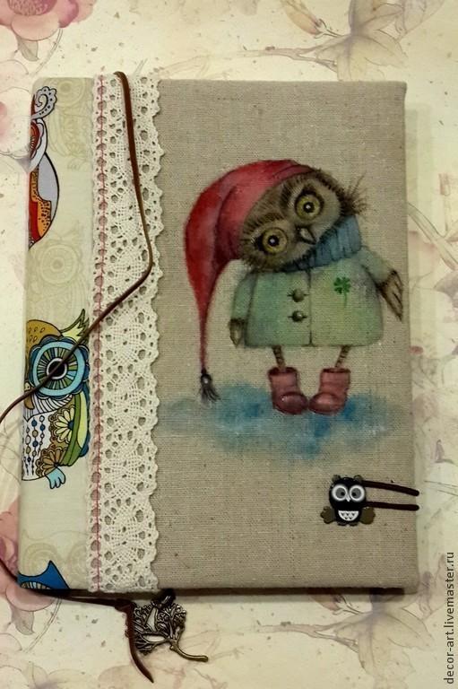 Блокнот  СОВЕНОК... Блокноты ручной работы. Анастасия    (Decor-art)