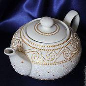 """Посуда ручной работы. Ярмарка Мастеров - ручная работа """"Белое золото"""" Чайник заварной керамический. Handmade."""