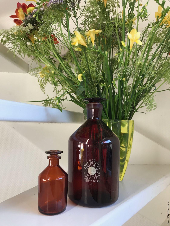 Apothecary jars of glass, 2 PCs., Germany, Vintage interior, Arnhem,  Фото №1