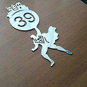 """Для дома и интерьера ручной работы. Ярмарка Мастеров - ручная работа Номерок на дверь """"возвращение супермена"""":). Handmade."""