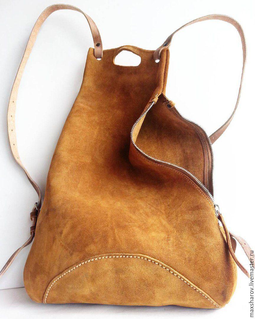 Женские сумки ручной работы. Ярмарка Мастеров - ручная работа. Купить  Замшевый рюкзак ручной работы ... b4cdd827bf575