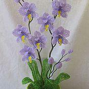 Цветы и флористика ручной работы. Ярмарка Мастеров - ручная работа Орхидея фиолетовая. Handmade.
