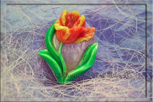 """Мыло ручной работы. Ярмарка Мастеров - ручная работа. Купить Мыло """"Тюльпан"""". Handmade. Разноцветный, цветы, подарок на любой случай"""