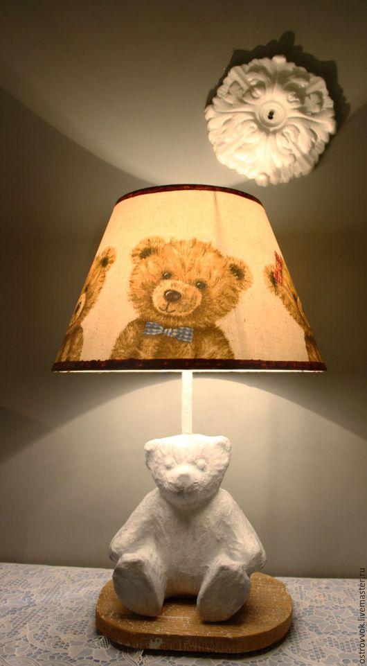 Детская ручной работы. Ярмарка Мастеров - ручная работа. Купить лампа в детскую. Handmade. Коричневый, медведь тедди, лампа в детскую