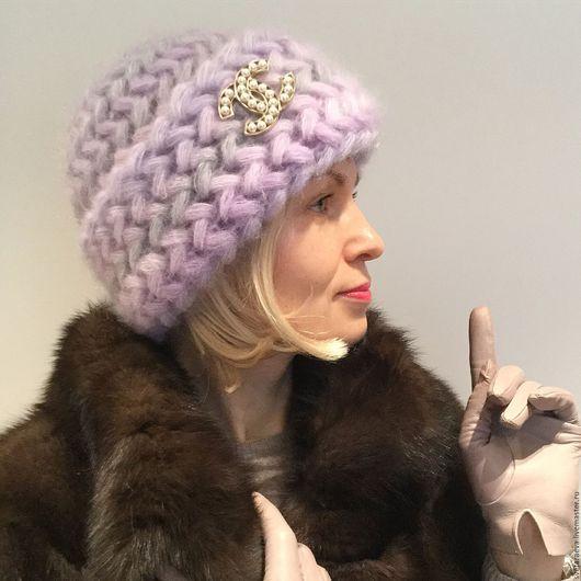 Шапки ручной работы. Ярмарка Мастеров - ручная работа. Купить шапку  Подснежник. Теплая шапка, вязаная шапка, шапка вязанная, шапка женская, красивая шапка, шапка с отворотом, шапка вязаная.