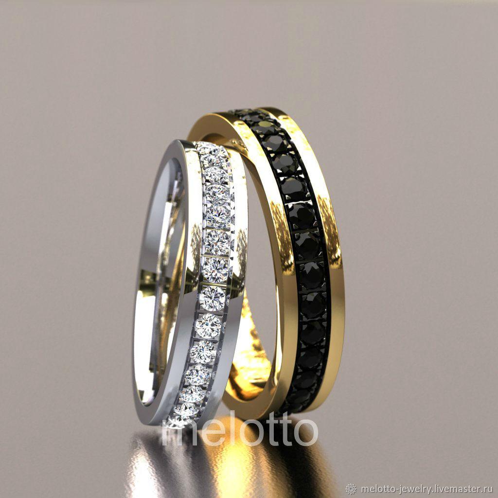 парные кольца обручальные фото