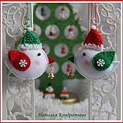 Мягкие игрушки ручной работы. Ярмарка Мастеров - ручная работа Птичка - ёлочная игрушка из фетра. Handmade.