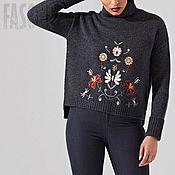 """Одежда ручной работы. Ярмарка Мастеров - ручная работа Свитер серый """"Flora"""" Серый свитер Серый свитер Серый свитер. Handmade."""