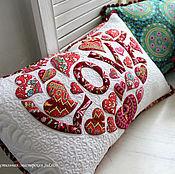 """Для дома и интерьера ручной работы. Ярмарка Мастеров - ручная работа подушка """"LOVE"""". Handmade."""