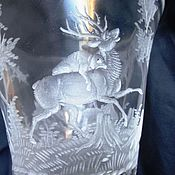 Винтаж handmade. Livemaster - original item CORNUCOPIA CUP about 1900 g. CZECH Republic Harrachov HAND ENGRAVING. Handmade.
