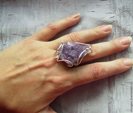 Кольца ручной работы. Ярмарка Мастеров - ручная работа. Купить Кольцо с Аметистом. Handmade. Сиреневый, чернение