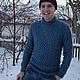Кофты и свитера ручной работы. Мужской свитер. Евгения. Интернет-магазин Ярмарка Мастеров. Свитер, вязаный свитер