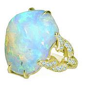 кольцо с опалом свет камней
