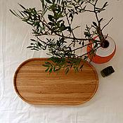 Хранение вещей ручной работы. Ярмарка Мастеров - ручная работа B a s i c _ Интерьерный овальный поднос из дуба. Handmade.