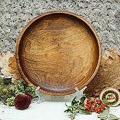 Посуда handmade. Livemaster - original item Wood Flat Plate of Fir 24#64. Handmade.