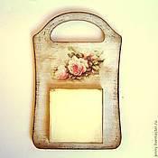 """Канцелярские товары ручной работы. Ярмарка Мастеров - ручная работа Доска для записей """"Чайные розы"""". Handmade."""