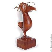 Заготовки для декупажа и росписи ручной работы. Ярмарка Мастеров - ручная работа Подставка для очков Bird (коричневая). Handmade.