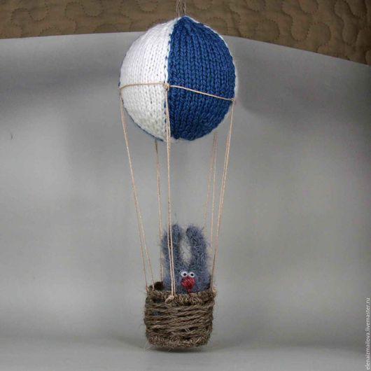 Детская ручной работы. Ярмарка Мастеров - ручная работа. Купить Полетели?. Handmade. Синий, воздушный шар, летающий кот