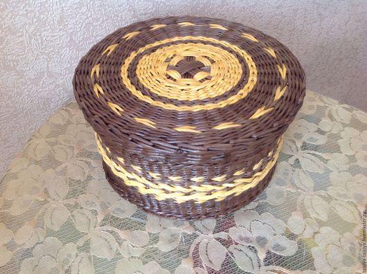 Коробка плетеная круглая. Ярмарка Мастеров- ручная работа. Коробка плетеная . Handmade.