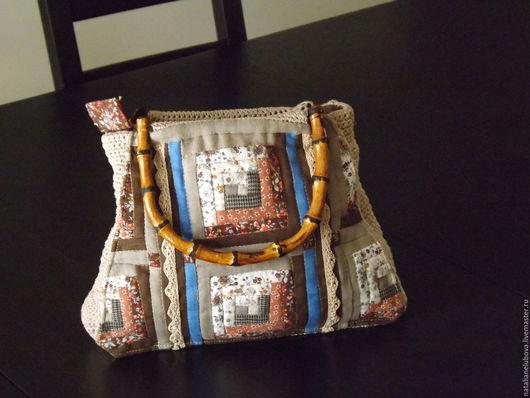 Женские сумки ручной работы. Ярмарка Мастеров - ручная работа. Купить Сумочка дамская в стиле пэчворк.. Handmade. Комбинированный, неповторимая