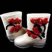 """Обувь ручной работы. Ярмарка Мастеров - ручная работа Валенки """"Снегирь"""" (короткие). Handmade."""