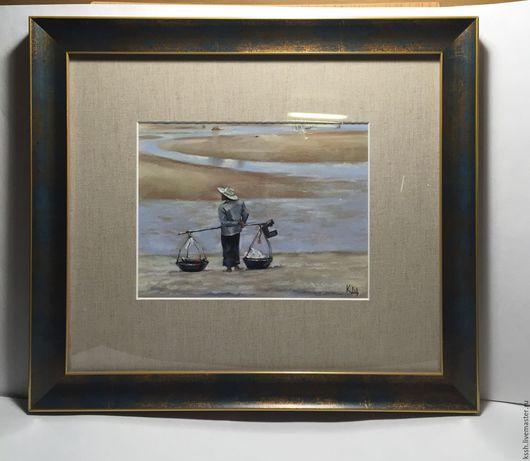"""Пейзаж ручной работы. Ярмарка Мастеров - ручная работа. Купить Картина """"220 км от Банкока"""". Handmade. Комбинированный, картина в подарок"""