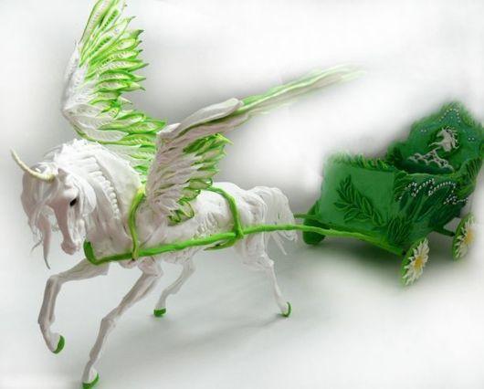 """Техника ручной работы. Ярмарка Мастеров - ручная работа. Купить карета для куклы (с пегасом) """"Весна"""". Handmade. Карета для куклы"""