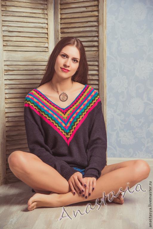 Пуловер жаккард с доставкой