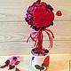 топиарий на день святого Валентина красное сердце подарок ко дню святого Валентина день всех влюбленных оригинальный топиарий оригинальный подарок необычный подарок красный два сердца цветы и флористи