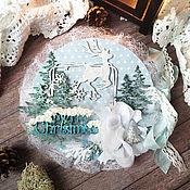 Открытки handmade. Livemaster - original item !Postcard Silver hoof. New year greeting Card on New year. Handmade.