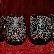 Посуда handmade. Livemaster - original item Animals. glasses. Handmade.