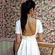 Платья ручной работы. платье с открытой спиной из итальянской хлопковой ткани. ЯблониЦвет (yablonicvet). Интернет-магазин Ярмарка Мастеров. Однотонный