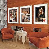 Картины и панно handmade. Livemaster - original item Triptych fine art photographs books for interior room - Paris in reflection. Handmade.