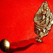 Винтаж ручной работы. Ярмарка Мастеров - ручная работа Антикварная настенная вешалка откидная бронза литьё Германия. Handmade.