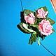 """Броши ручной работы. Мини-брошь """"Букетик любимых роз"""". Натали. Ярмарка Мастеров. Цветы ручной работы"""