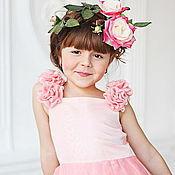 Работы для детей, ручной работы. Ярмарка Мастеров - ручная работа Rosy нарядное платье. Handmade.