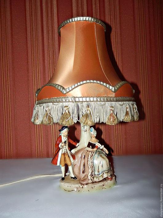 Винтажные предметы интерьера. Ярмарка Мастеров - ручная работа. Купить Лампа настольная антикварная Германия. Handmade. Лампа, свет, фарфор
